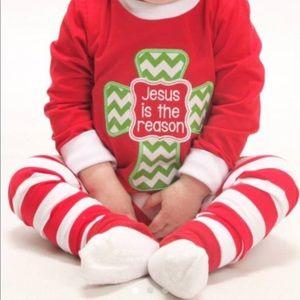 Christmas Pajamas for Kids Jesus is the Reason NEW
